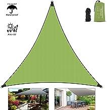 Vivibel Sonnensegel, Dreieck 4x4x4m Wasserabweisend Sonnenschutz Schattensegel Segeltuch mit 3xBefestigungsseile2 m und Tragtasche für Garten Terrasse Balkon