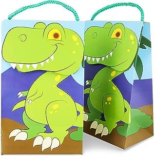 Juvale 15-Pack del Partido del Dinosaurio de t-Rex del Favor de Bolsas para Dino cumpleaños del Tema, 9 x 5 x 3,5 Pulgadas