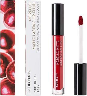 Korres MORELLO Matte Lasting Lip Fluid - nr. 59 Brick Red, 12 x 28 g