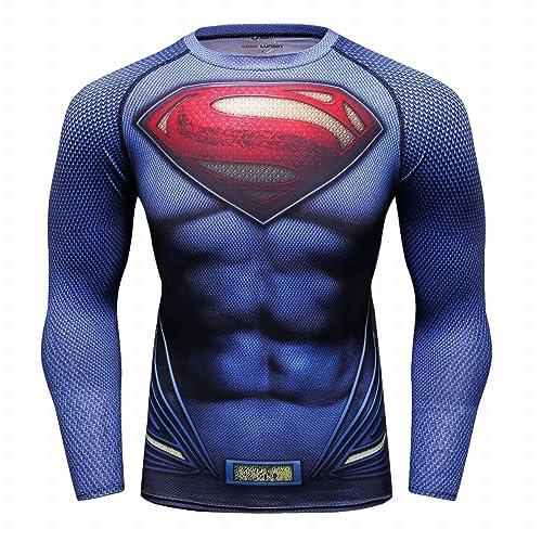Red Plume Men s Film Super-Hero Series Compression Sports Shirt Skin  Running Long Sleeve Tee 6b637a736