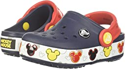 Crocs Kids Crocband Mickey Fun Lab Lights Clog (Toddler/Little Kid)