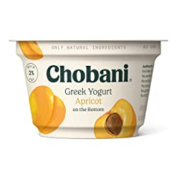 Chobani 2% Greek Yogurt, Apricot on the Bottom 5.3oz