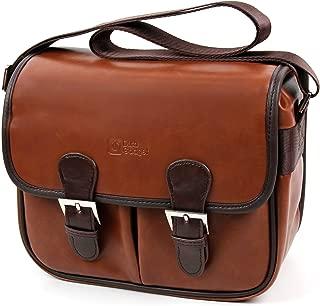 DURAGADGET Brown PU Vintage Brown Leather Satchel Carry Bag for Avantree Mini Enceinte Sans fil