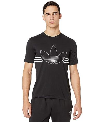 adidas Originals Outline Trefoil Tee (Black) Men