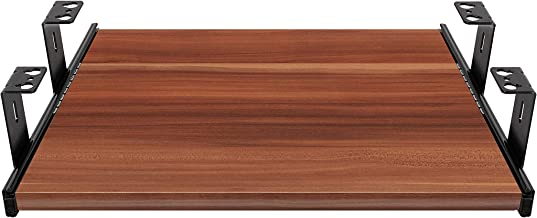 FIX&EASY Ladegeleiders voor toetsenbordlade met plank 390X300mm pruim decor, geleiderails zwart 300mm, complete set toetse...