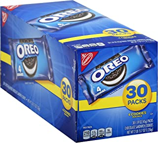 Oreo Chocolate Sandwich Cookies - 30 Lunch Snack Pack (120 Cookies Total)