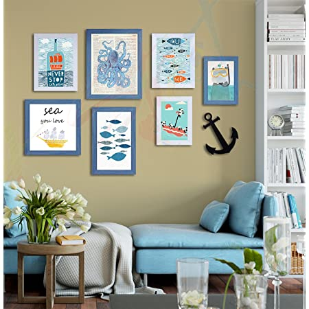 Painting Mantra Art Street Quotes Framed Wall Poster (Color :: Aqua,Style Name ::Never Stop Exploring,Item Shape ::Mixed) #wallessential