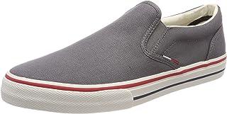 Hilfiger Denim Tommy Jeans Textile Slip On, Men's Low-Top Sneakers, Grey (Steel Grey 039), 10 UK (44 EU)