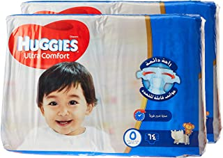 HUGGIES Ultra Comfort Diapers, Size 5, Jumbo Pack, 12-22 kg, 128 Diapers