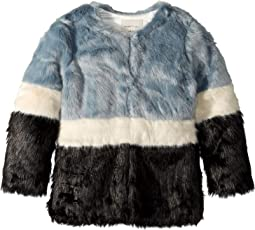 Debs Thigh Length Fur Jacket (Big Kids)