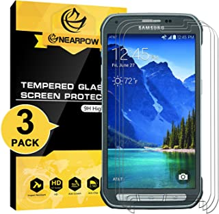 [3 Pack] Samsung Galaxy S5 Active Screen Protector (Not for Galaxy S5), Nearpow® [Tempered Glass] Screen Protector with [9H Hardness] [Crystal Clear] [Easy Bubble-Free Installation] [Scratch Resist]