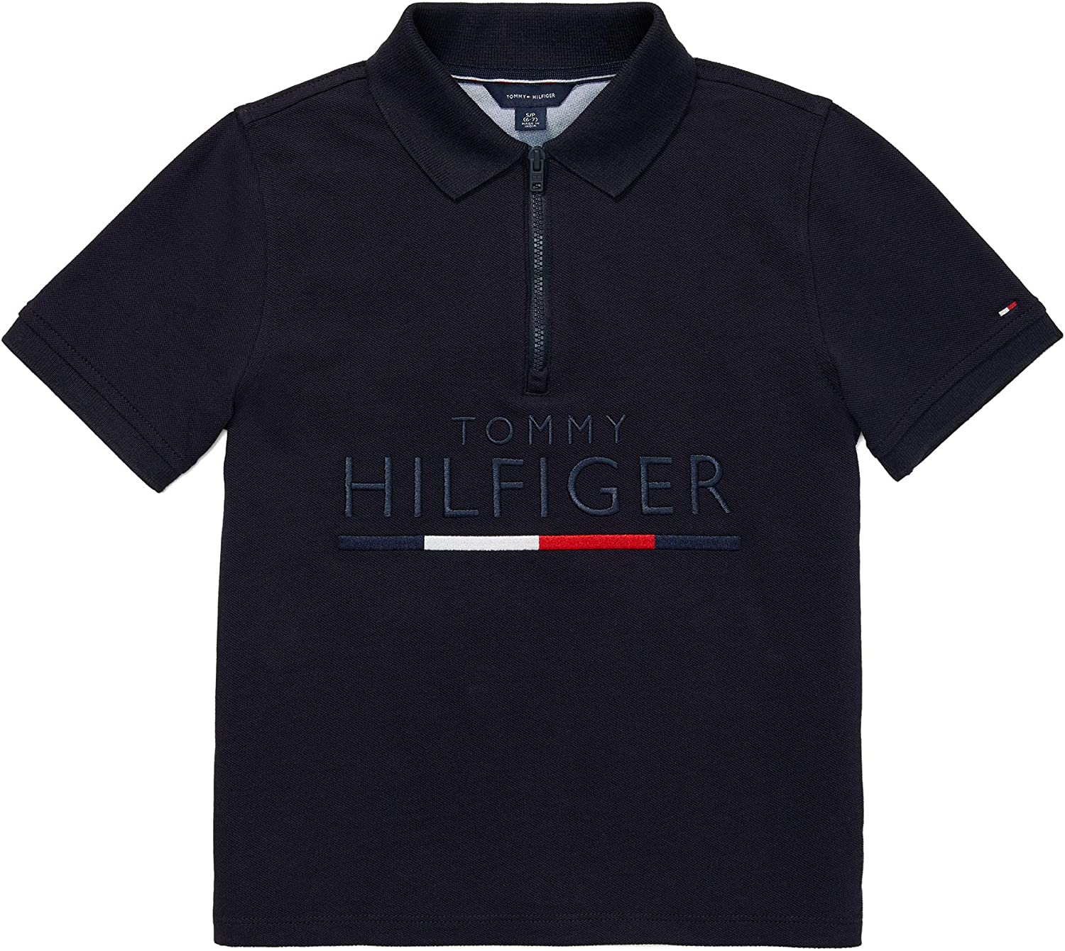 Tommy Hilfiger Credence Boys' Adaptive Max 42% OFF Polo Shirt Closure with Zipper