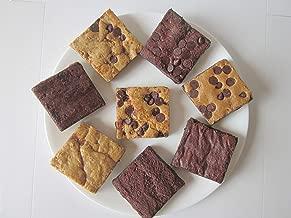 Tula Bakeshoppe Gourmet Vegan Bars Gift Box - Brownies: Fudge, Chocolate Chip, Caramel, and Peanut Butter. Blondies: Chocolate Caramel, Chocolate Peanut Butter, and Coconut Oatmeal Caramel. (8 bars)