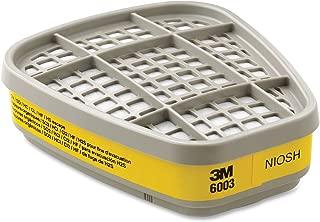 3M 6003 6003 Respirator Cartridge for Certain Organic Vapors and Acid Gases, 2/Pack