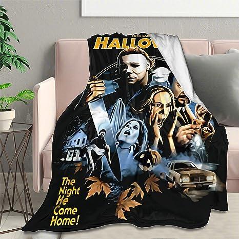 Ultra Soft Flannel Fleece Blanket Michael Myers Halloween Stylish Bedroom Living Room Sofa Warm Throw Blanket 50X40for Kids