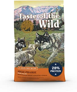 Taste of the Wild Grain Free Premium High Protein Dry Dog Food High prairie Puppy Recipe with Roasted Bison & Roasted Veni...