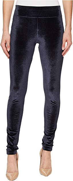 HUE - Wide Waistband Velvet Leggings