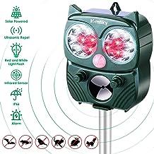 Homtiky Repelente Gatos, Repelente de Animales Ultrasónico de Energía Solar, IP66 Impermeable para Expulsar Animales, Ahuyentador de Pajaros con 5 Modos de Frecuencia Ajustables