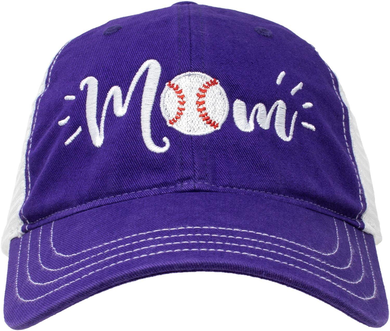 Cute Team Color Fan Cap for Women Black Red Blue Green Purple Ann Arbor T-shirt Co Baseball Mom Hat