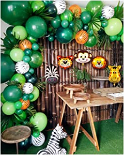 2019 Upgrade Jungle Safari Theme Party Supplies, 102 PCS Balloon Garland Kit, Favors for Kids Boys Birthday Baby Shower De...