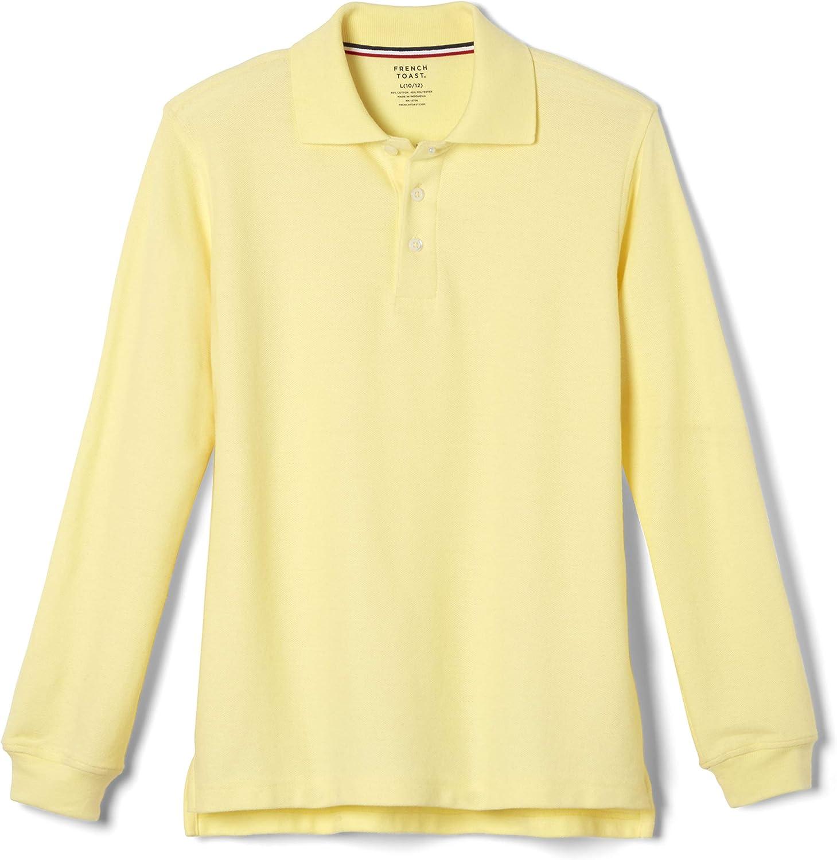 French Toast Boys' Long Sleeve Interlock Polo Shirt