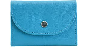 Mandava safiano Genuine Leather Turquoise Card Holder