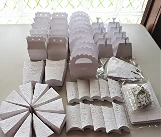 cajitas para mesa de dulces candybar BLANCAS, 80 piezas ARTESANALES