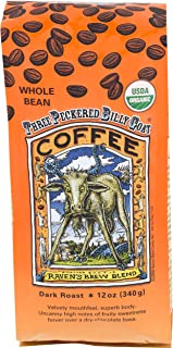 Raven's Brew Whole Bean Organic 3 Peckered Billy Goat, Dark Roast 12-Ounce Bags (Pack of 2)