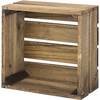 Decowood - Caja de Madera Handmade, Envejecida - 29 x 29 x 15,5: Amazon.es: Hogar