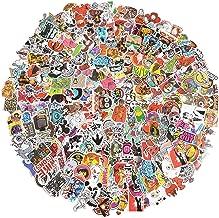 Vinyl Stickers 300 pcs Laptop Computer PC Water Bottle Car Helmet Skateboard Luggage Bike Bumper Waterproof Graffiti Decals,Gift for Kids, Adult- No-Duplicate Pack