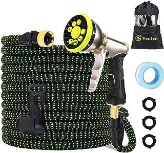 Garden Hose Pipe Expandable Hose - Heavy Duty Flexible Leakproof Hose Hose High-Pressure Water Spray Nozzle & Bag & Plasti...
