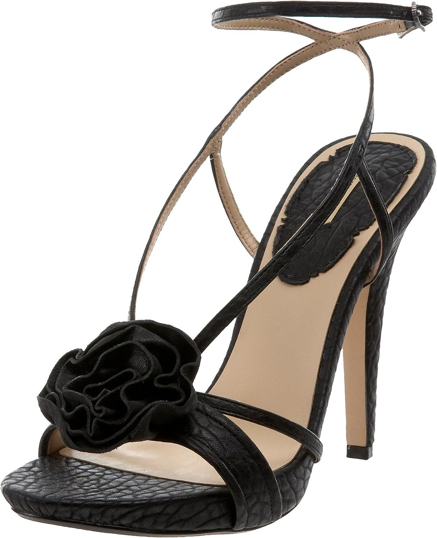Maxstudio Women's Erbay Platform Sandal, Black, 8.5 M US