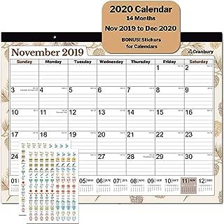 Large Desk Calendar 2020 17.75 x 13.75