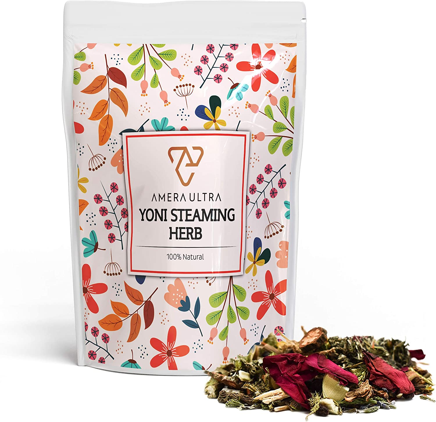 Yoni Steam Herbs for Cleansing Detox - Over 30 Yoni Steam Blend with Filter Bag - Natural Soothing Yoni Herbs for Steaming - Use at Home V Steam Vaginal Cleanse Blend for Menstrual Pain (4-8 Steams)