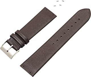 Skagen Compatible Brown Genuine Leather band/strap by Watch Technicians,4 Screws Included, Fits Models Listed Below