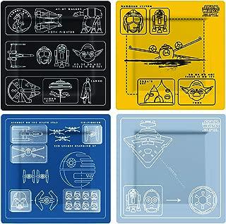 Underground Toys Star Wars Blueprints Plate Set - Officially Licensed Star Wars Kitchen Gear