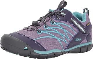 Unisex Kid's Chandler CNX WP Hiking Shoe, Montana Grape/Aqua Haze, 3 Youth US Big Kid