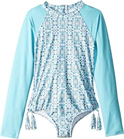 Maharaja Long Sleeve Keyhole Surf One-Piece (Little Kids/Big Kids)