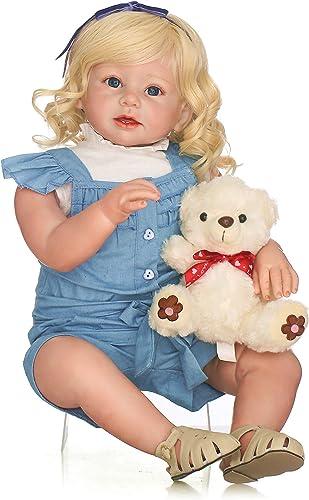 marca famosa Leaysoo Reborn Toddler Baby 28 Pulgadas Pulgadas Pulgadas simulación muñeca Hecha a Mano Regalo de Niños para Mayores de 3 años Juego de casa  ahorrar en el despacho
