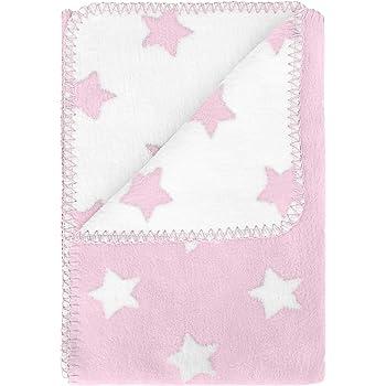 kids&me warme Schmusedecke aus 100% Bio Baumwolle - das perfekte Geburtsgeschenk für Mädchen - Made in Germany - 100x70 cm - rosa
