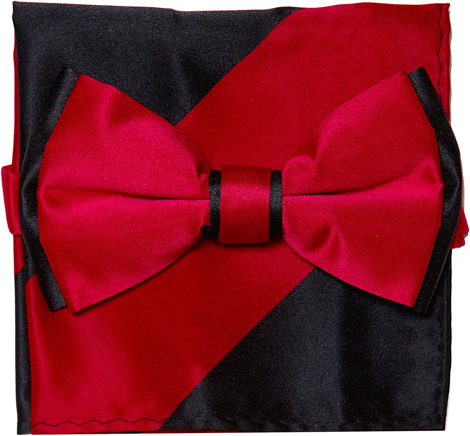 WOXHY New Hot Fashion Mens Self Tie Bow Ties Black Red Solid Color Bowties for Men Classic Jacquard Cravat Accessories Necktie