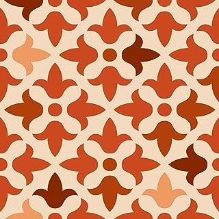 Mi Alma Bathroom Décor Tiles 24-Piece Talavera Tile Stickers Peel and Stick Easy Application – Decor Design – Ideal for Bathroom, Kitchen Wall Tile Decals backsplash (6x6 Inch, Red Flower)