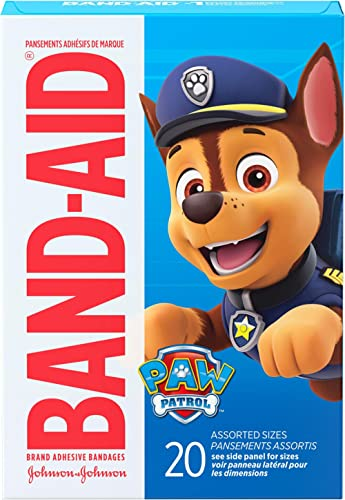Band-Aid Brand Adhesive Bandages for Minor Cuts & Scrapes, Wound Care Featuring Nickelodeon Paw Patrol Characters for...