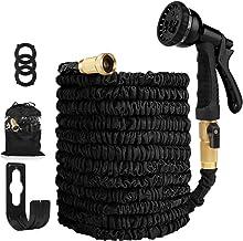 Garden Hose Expandable Hose - Heavy Duty Flexible Leakproof Hose - 8-Pattern High-Pressure Water Spray Nozzle & Bag & Plas...