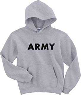 Youth Army Hooded Sweatshirt in Gray