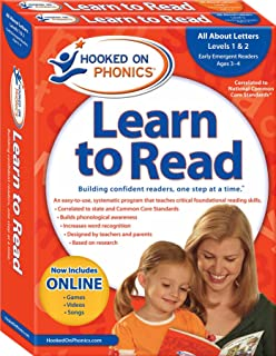 Hooked on Phonics Learn to Read - Levels 1&2 Complete: All About Letters (Early Emergent Readers   Pre-K   Ages 3-4) (1)
