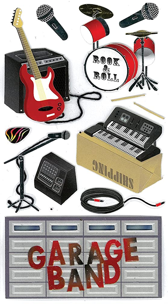 Jolee's Boutique Garage Band Dimensional Stickers
