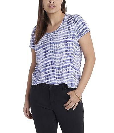 Vince Camuto Plus Size Short Sleeve Scoop Neck Sandy Waves Knit Top