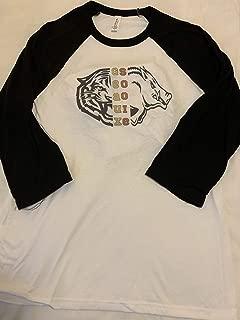 Handmade College Football Shirt House Divided LSU Arkansas