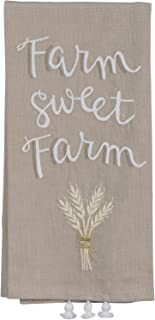 Primitives by Kathy Farm Sweet Farm Kitchen Towel - Embroidered Wrapped Wheat Sheath - 20